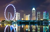 picture of singapore night  - Singapore cityscape - JPG