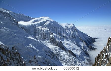 Mont Blanc massif in the French Alps