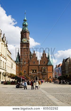 The Ancient Town Hall In Wroclaw, Poland