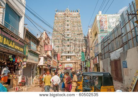 In The Street Of Madurai
