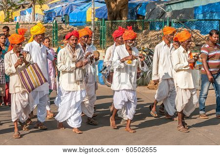 Procession At Chamundeshwari Temple