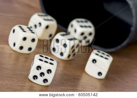 Casino Dices On The Table