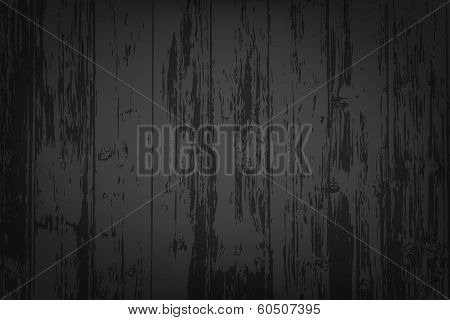 Black Wooden Textured Background