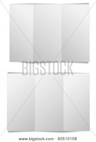 detailed illustration of a blank brochure template, eps10 vector