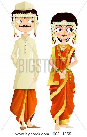 Maharashtrian Wedding Couple