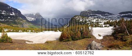 Stormy weather over Logan pass