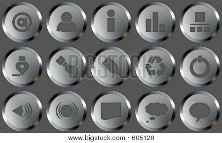 Metal Buttons Set