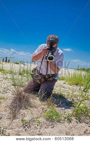 Biologist In The Field