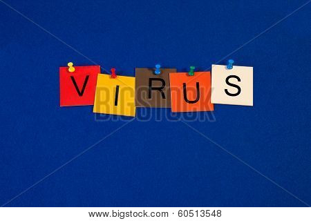Virus, Sign Series for the Internet and Computers.