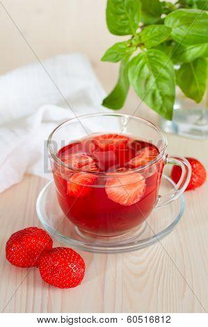 Herbal Tea With Strawberries