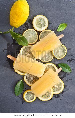 Fresh Lemon Popsicles