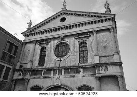 Old Cathedral In Venice