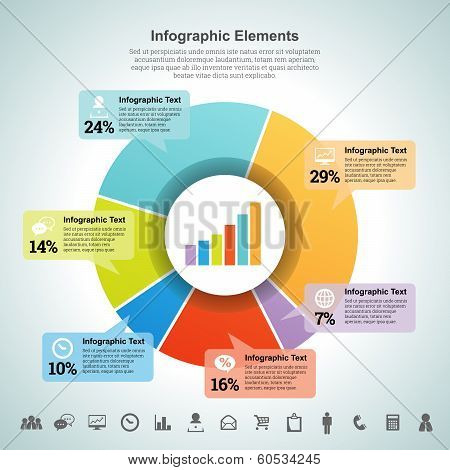 Pie Percentage Infographic Element