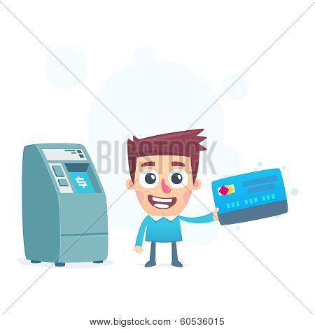 Each credit card has its own ATM