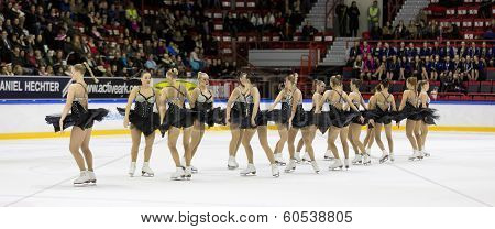 Rockettes competes in Finnish Synchronized Skating Championships 2014