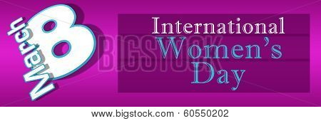 Womens Day Pink Blue Horizontal