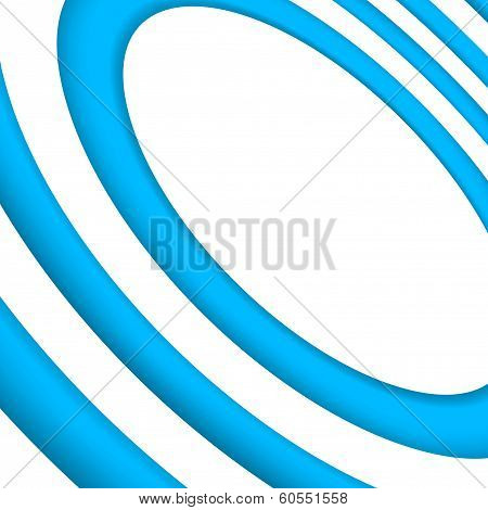 Bright Blue Concentric Background Template