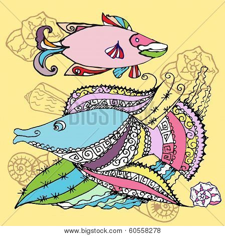 Background With Two Fishes