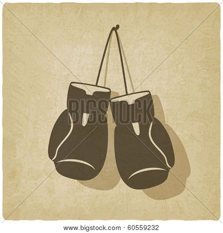 sport boxing old background