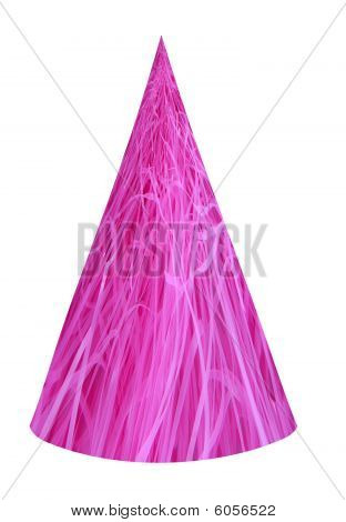 Pink Grass Party Hat