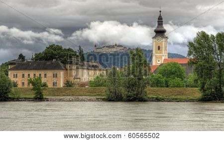 Göttweig Abbey at river Danube (Austria)