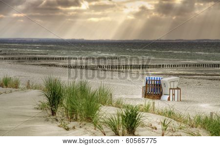 Lonely Beach at island Poel (Germany)