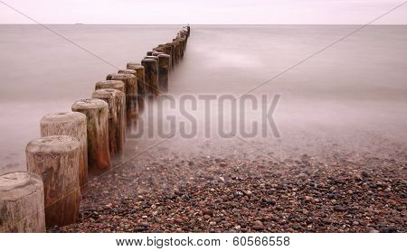 Line of Groynes 02  - long time exposure