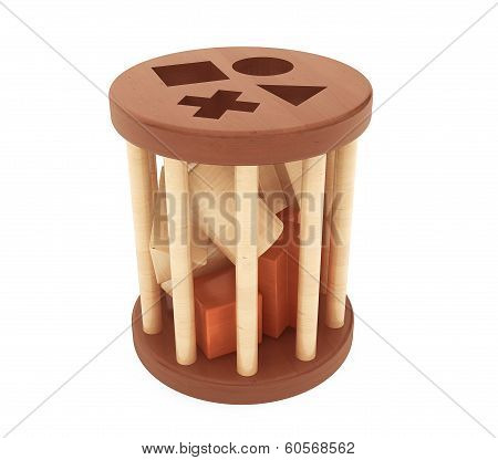 Children Wooden Shape Sorter Toy