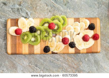 Sliced Fresh Ingredients Ready For A Fruit Salad