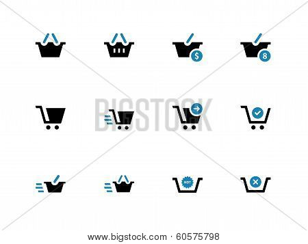 Checkout duotone icons on white background.