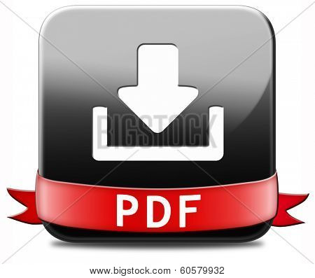 pdf file download or document downloading button or icon