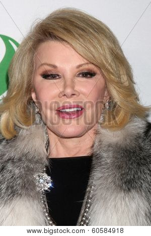 LOS ANGELES - FEB 26:  Joan Rivers at the Global Green USA Pre-Oscar Event at Avalon Hollywood on February 26, 2014 in Los Angeles, CA