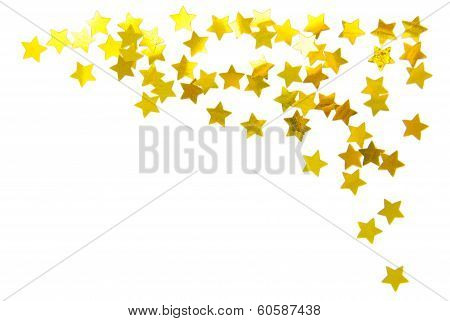 stars frame isolated on white