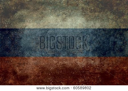 National Flag of Russia - Vintage desaturated version