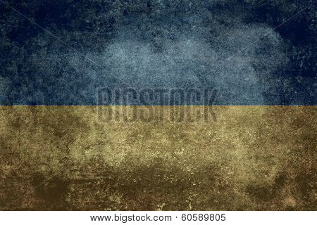 National flag of Ukraine, Vintage distressed version (to scale)