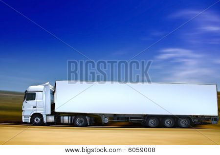 Semitruck On Road