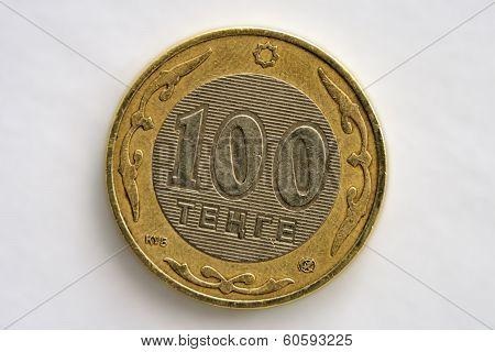 Coin Hundred Tenge.