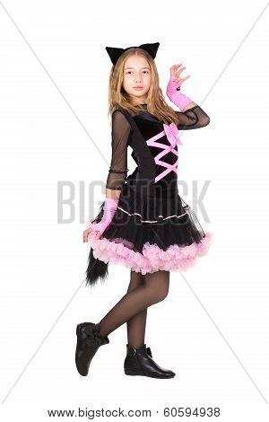 Girl In Black Catsuit