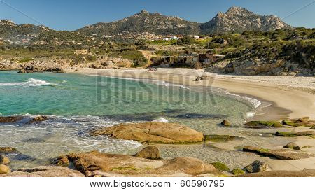 Plage De Petra Muna, Near Calvi In Corsica