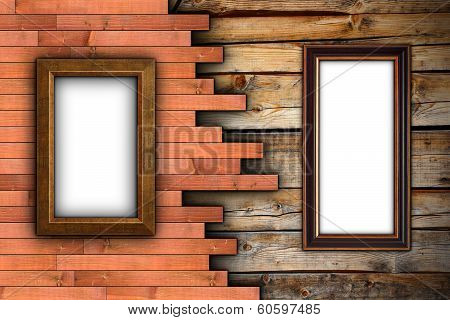 Interesting Wood Wall With Frames