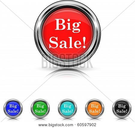 Big Sale Icon - Six Colors Vector Set