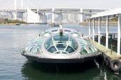 Futuristic Ferry Boat In Tokyo