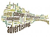 High resolution concept or conceptual 3D abstract business advertising word cloud or wordcloud isola