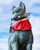 stock photo of inari  - Kitsune sculpture at Fushimi Inari - JPG