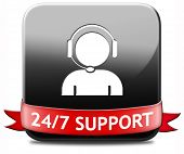 stock photo of helpdesk  - support desk icon or 24 - JPG