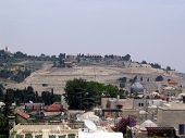 image of aqsa  - Old Jerusalem with gray Dome of  Al - JPG
