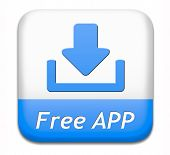 Free app button or gratis apps icon download sign or label