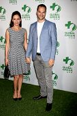 LOS ANGELES - FEB 26:  Leonor Varela, Lucas Akoskin at the Global Green USA Pre-Oscar Event at Avalo
