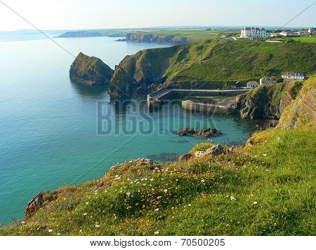 Beautiful Bay Of Mullion Cove, Cornish Coast, South England