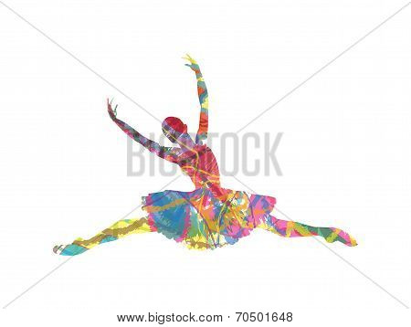 dancer abstract silhouette